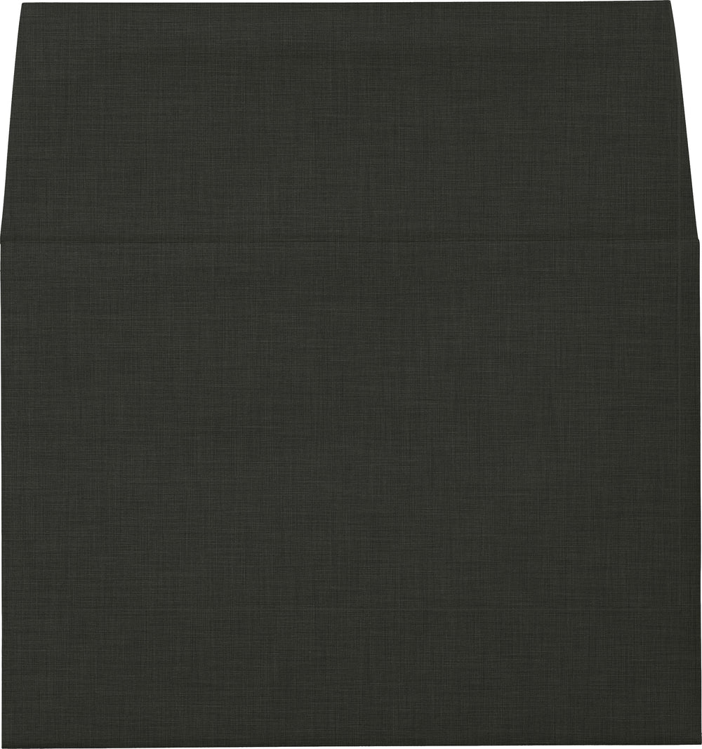 "A-9 Epic Black Linen Envelopes (5 3/4"" x 8 3/4"")"
