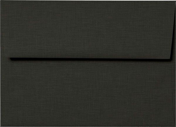 A-2 Epic Black Linen Envelopes (4 3/8