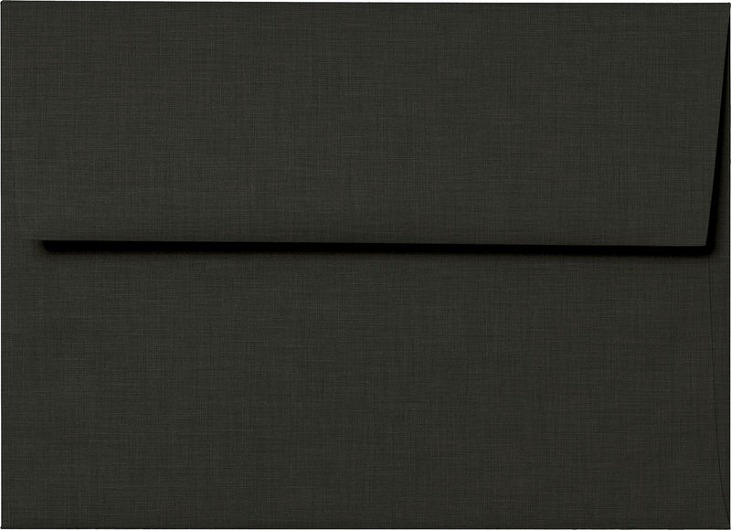 "A-7 Epic Black Linen Envelopes (5 1/4"" x 7 1/4"") - Paperandmore.com"