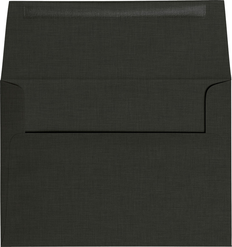 "A-9 Epic Black Linen Envelopes (5 3/4"" x 8 3/4"") - Paperandmore.com"