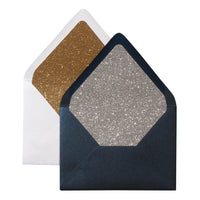 A-7 Blueprint Blue Metallic - Euro Flap Envelope Liner