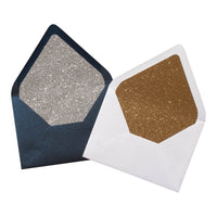 A-7 Onyx Black Metallic - Euro Flap Envelope Liner