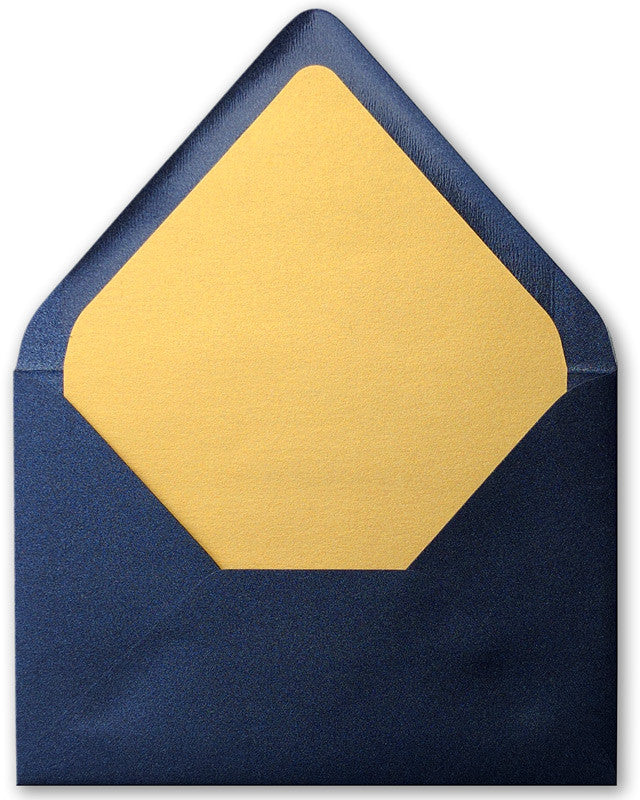 A-7.5 Dark Blue Metallic - Euro Flap Envelope Liner - Paperandmore.com