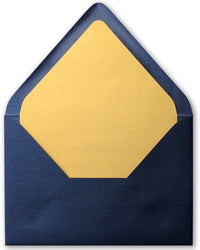 A-7 Baltic Sea Blue Solid - Euro Flap Envelope Liner