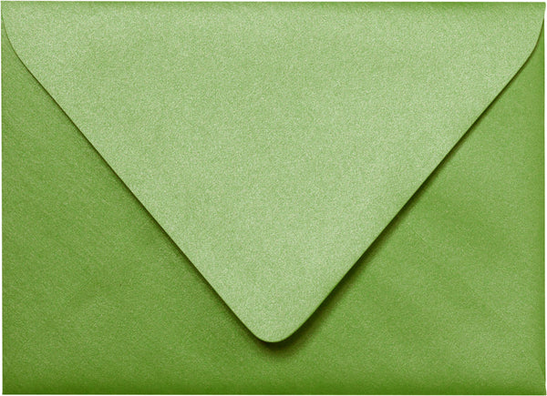 "A-7 Green Fairway Metallic Euro Flap Envelopes (5 1/4"" x 7 1/4"") - Paperandmore.com"