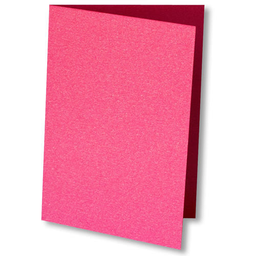 Pink Azalea Metallic Invitation Card, 4 Bar Folded - Paperandmore.com