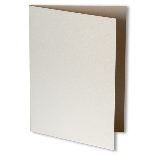 Champagne Cream Metallic Invitation Card, A7 Folded - Paperandmore.com