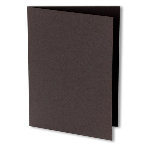 Chocolate Brown Solid Invitation Card, 4 Bar Folded