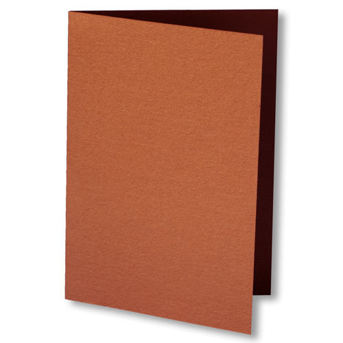 Copper Metallic Invitation Card, 4 Bar Folded - Paperandmore.com