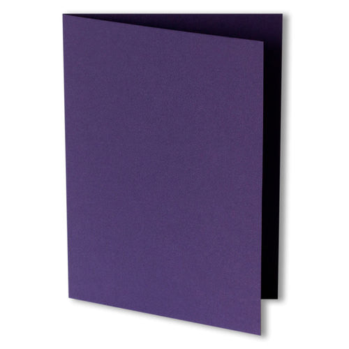 Dark Purple Solid Invitation Card, A7 Folded - Paperandmore.com