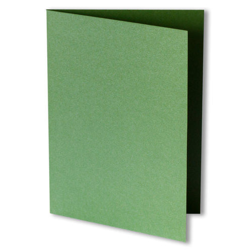 Green Fairway Metallic Invitation Card, A7 Folded - Paperandmore.com