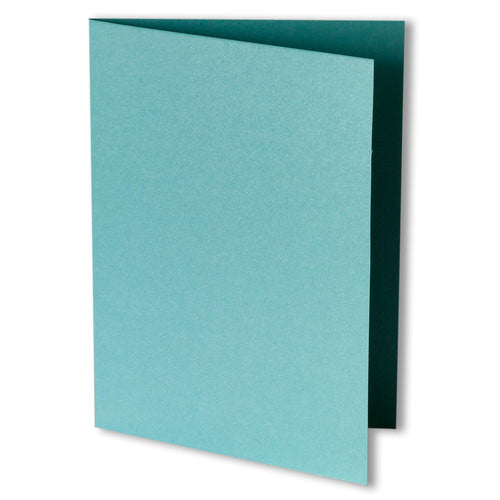 Aqua Lagoon Metallic Invitation Card, 4 Bar Folded - Paperandmore.com