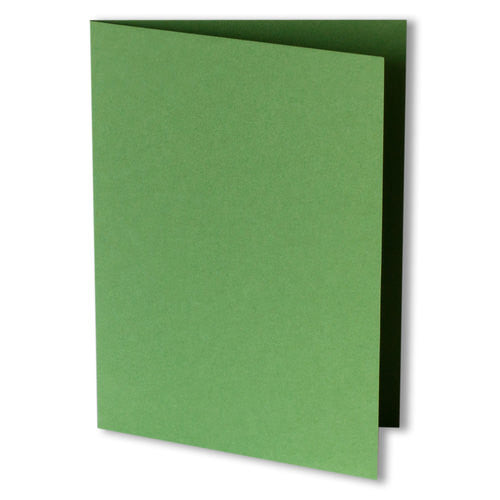 Meadow Green Solid Invitation Card, A7 Folded - Paperandmore.com