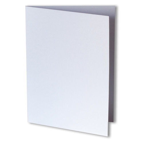 Pearl White Metallic Invitation Card, 4 Bar Folded - Paperandmore.com