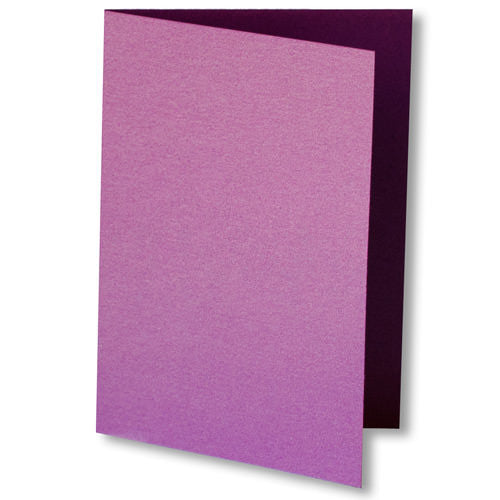 Purple Punch Metallic Invitation Card, 4 Bar Folded - Paperandmore.com