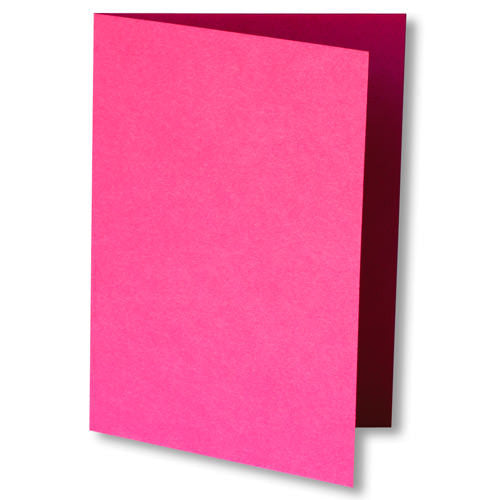Razzle Pink Solid Invitation Card, A7 Folded - Paperandmore.com