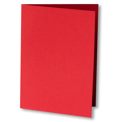 Red Pepper Linen Invitation Card, 4 Bar Folded - Paperandmore.com