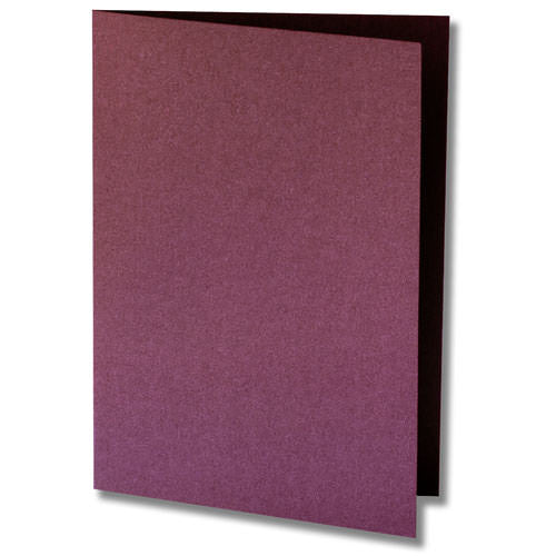Ruby Purple Metallic Invitation Card, 4 Bar Folded - Paperandmore.com