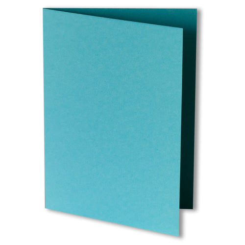 Tiffany Blue Solid Invitation Card, 4 Bar Folded - Paperandmore.com