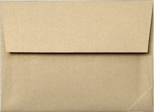 "A-7 Gold Leaf Metallic Envelopes (5 1/4"" x 7 1/4"") - Paperandmore.com"