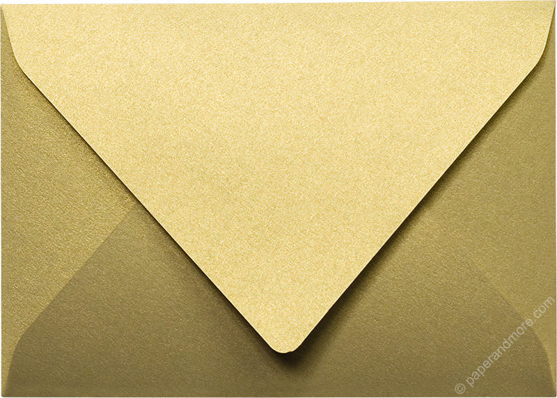 Gold Leaf Metallic - A-7 Euro Flap Card Enclosure