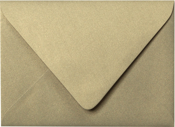 "A-7 Gold Leaf Metallic Euro Flap Envelopes (5 1/4"" x 7 1/4"") - Paperandmore.com"