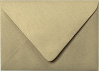 "Outer A-7.5 Gold Leaf Metallic Euro Flap Envelopes (5 1/2"" x 7 1/2"") - Paperandmore.com"