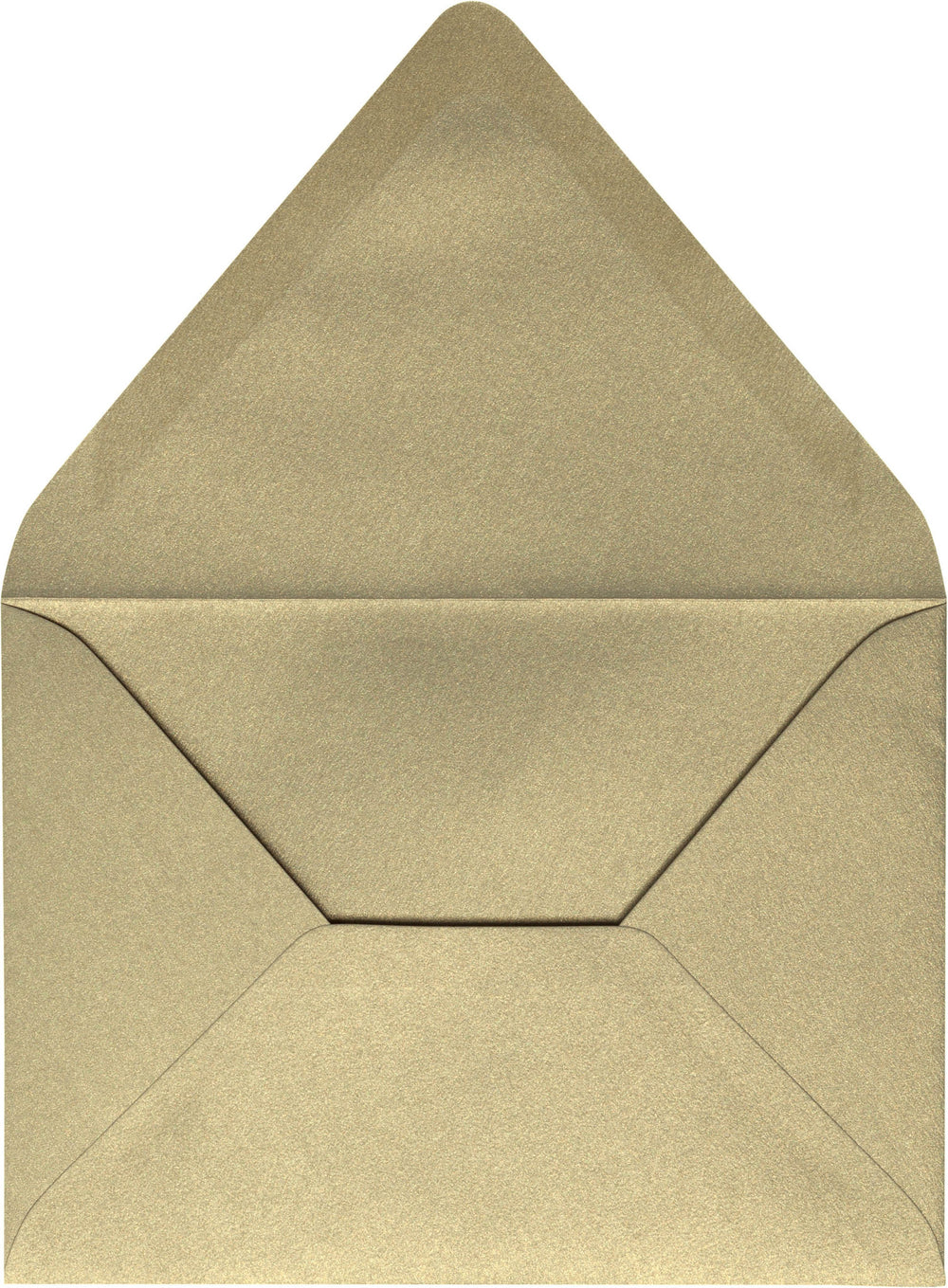 "A-7 Gold Leaf Metallic Euro Flap Envelopes (5 1/4"" x 7 1/4"")"