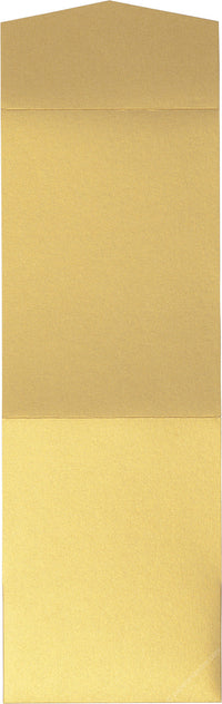 Gold Metallic Pocket Invitation Card, A7 Cascade - Paperandmore.com
