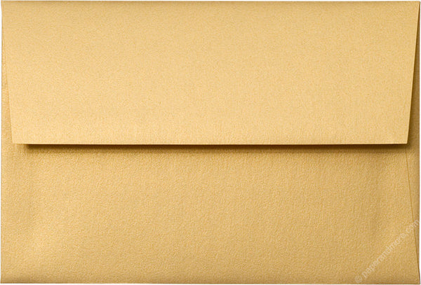 "Gold Metallic Envelopes 5 1/4"" x 7 1/4"" (A7) - Paperandmore.com"