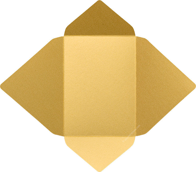 Gold Metallic - A-7 Euro Flap Card Enclosure - Paperandmore.com