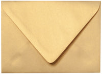 "A-7 Gold Metallic Euro Flap Envelopes (5 1/4"" x 7 1/4"")"