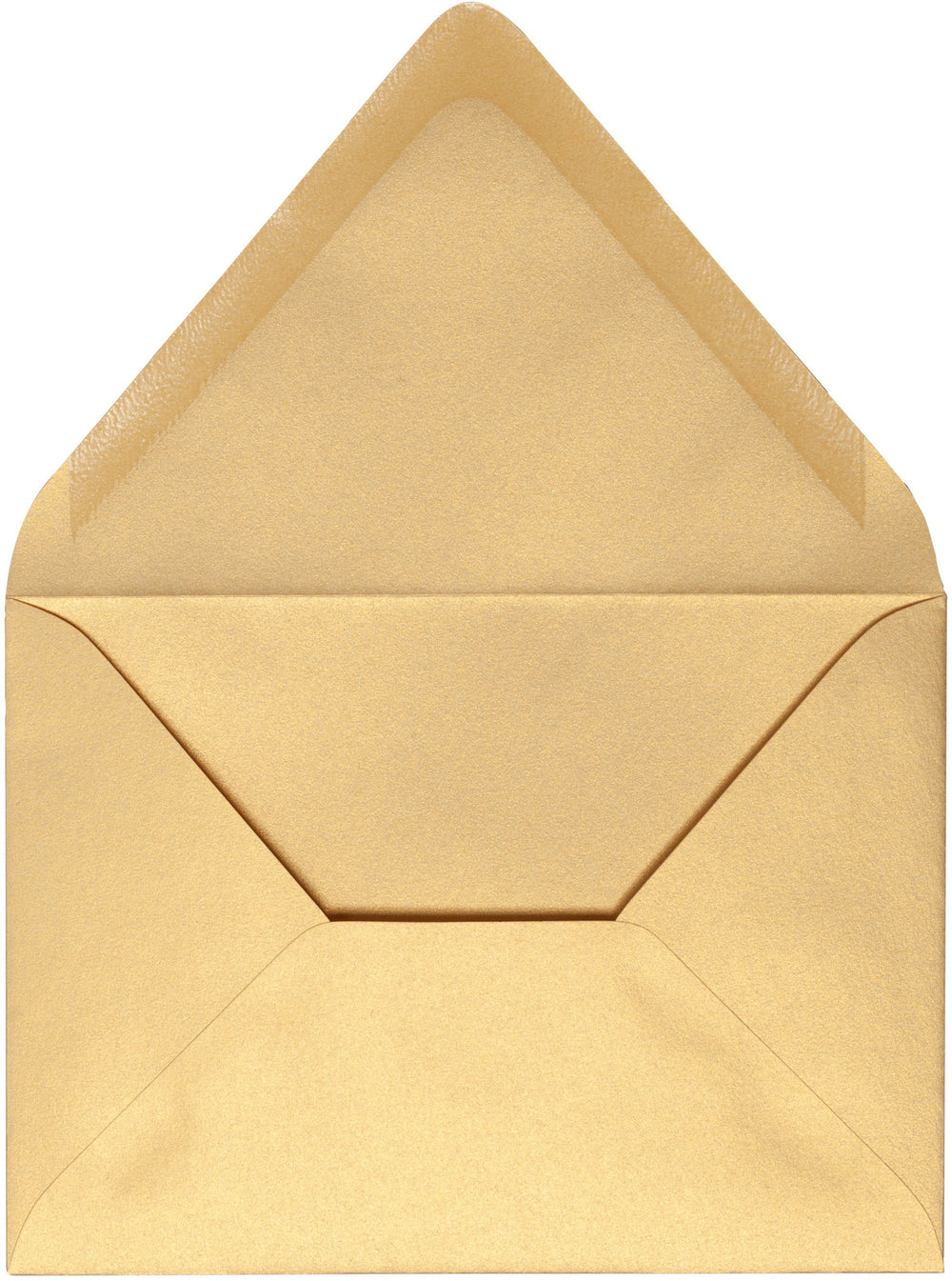 "A-2 Gold Metallic Euro Flap Envelopes (4 3/8"" x 5 3/4"")"
