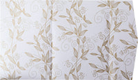Gold Vine Leaves on Pearl White Metallic, A7 Himalaya - Paperandmore.com