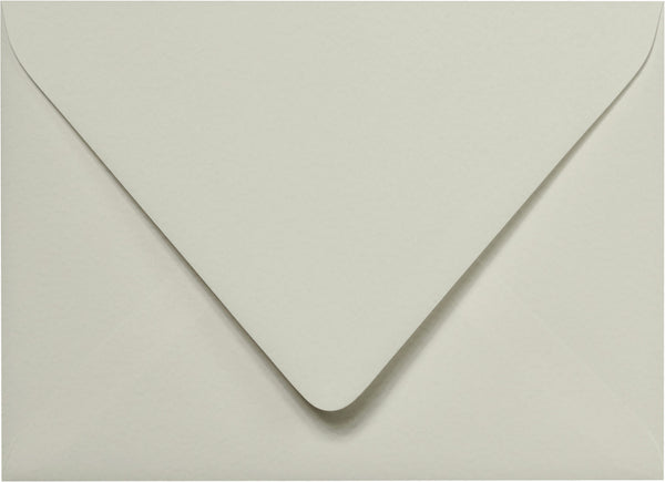A-7 Gray Cotton Euro Flap Envelopes 5 1/4