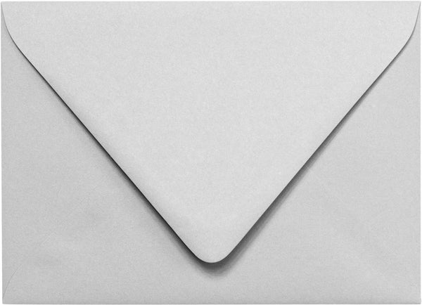 "Outer A-7.5 Gray Smoke Solid Euro Flap Envelopes (5 1/2"" x 7 1/2"") - Paperandmore.com"