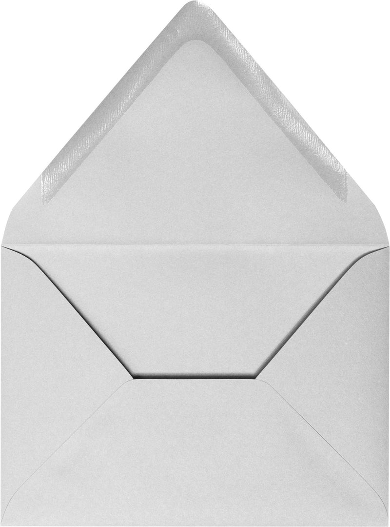 A-7 Gray Smoke Solid Euro Flap Envelopes - Paperandmore.com