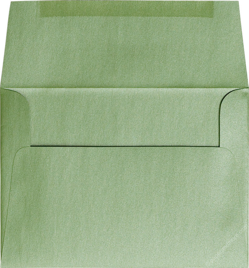 "A-7 Green Fairway Metallic Envelopes (5 1/4"" x 7 1/4"") - Paperandmore.com"
