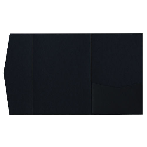 Black Solid Pocket Invitation Card, A7 Himalaya - Paperandmore.com