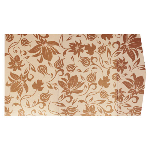 Brown Spring Bloom on Champagne Cream Metallic, A7 Himalaya - Paperandmore.com