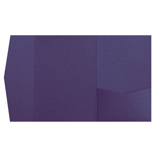 Dark Purple Solid Pocket Invitation Card, A7 Himalaya