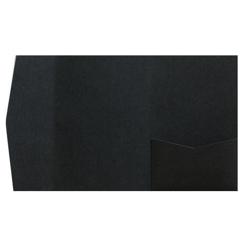 Epic Black Linen Pocket Invitation Card, A7 Himalaya - Paperandmore.com