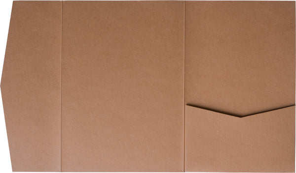Kraft Brown 100 lb Raw Recycled Pocket Invitation Card, A-7.5 Himalaya