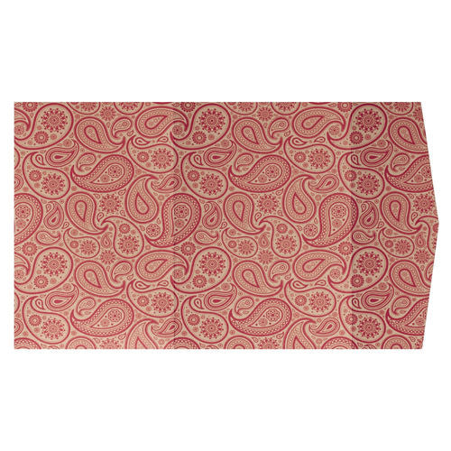 Red Paisley on Gold Leaf Metallic, A7 Himalaya - Paperandmore.com