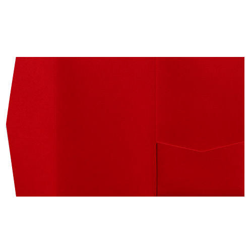 Red Pepper Linen Pocket Invitation Card, A7 Himalaya