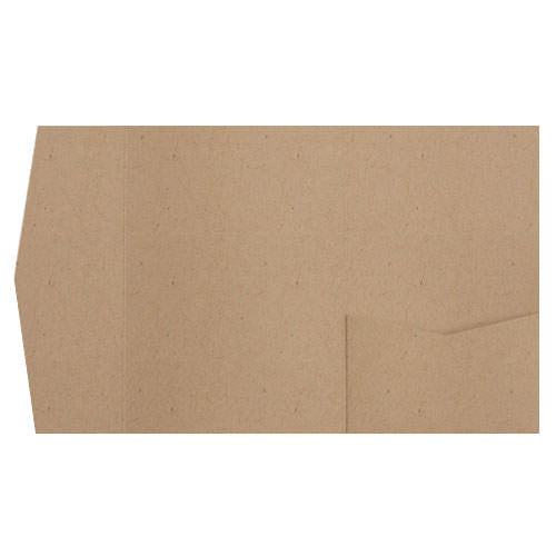 Taupe Brown Recycled Pocket Invitation Card, A-7.5 Himalaya - Paperandmore.com