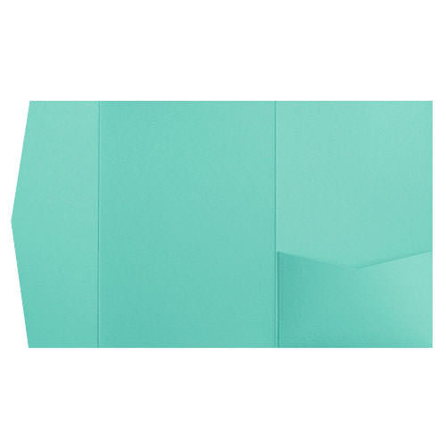 Tiffany Blue Solid Pocket Invitation Card, A-7.5 Himalaya - Paperandmore.com