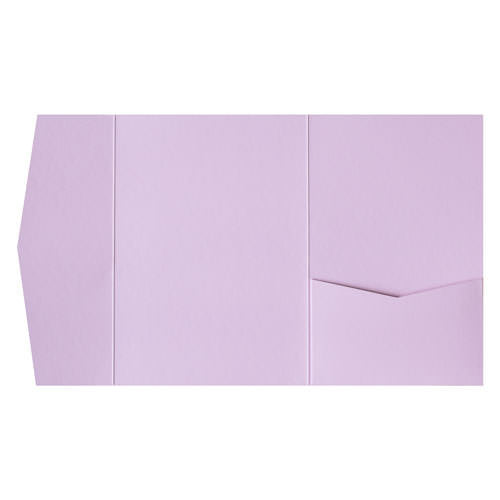 Wisteria Purple Solid Pocket Invitation Card, A7 Himalaya - Paperandmore.com
