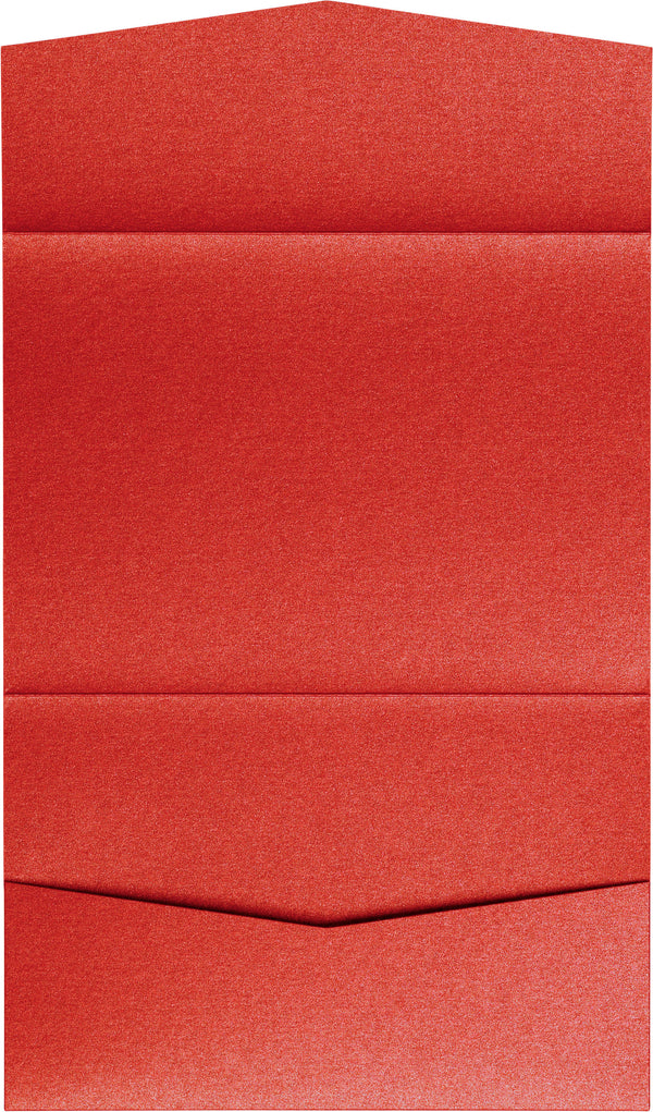 Jupiter Red Metallic Pocket Invitation Card, A7 Atlas