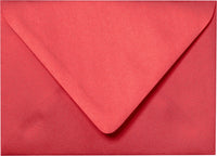 "A-1 (4 Bar) Jupiter Red Metallic Euro Flap Envelopes (3 5/8"" x 5 1/8"") - Paperandmore.com"